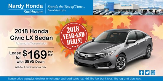New Honda Specials At Nardy Honda Smithtown Near Commack