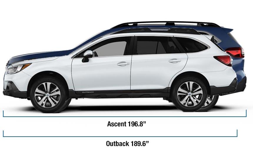 2019 Subaru Ascent Comparisons Full Size Suv Versus