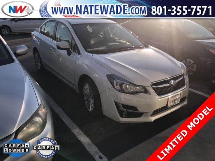 certified pre-owned 2016 Subaru Impreza 2.0i Limited Sedan for sale in Salt Lake City UT