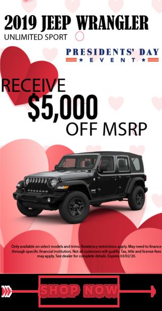 2019 jeep wrangelr- msrp