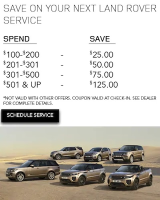 Save On Your Next Land Rover Service