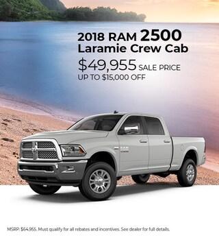 2018 RAM Laramie CrewCab 2500- up to $15,000 off