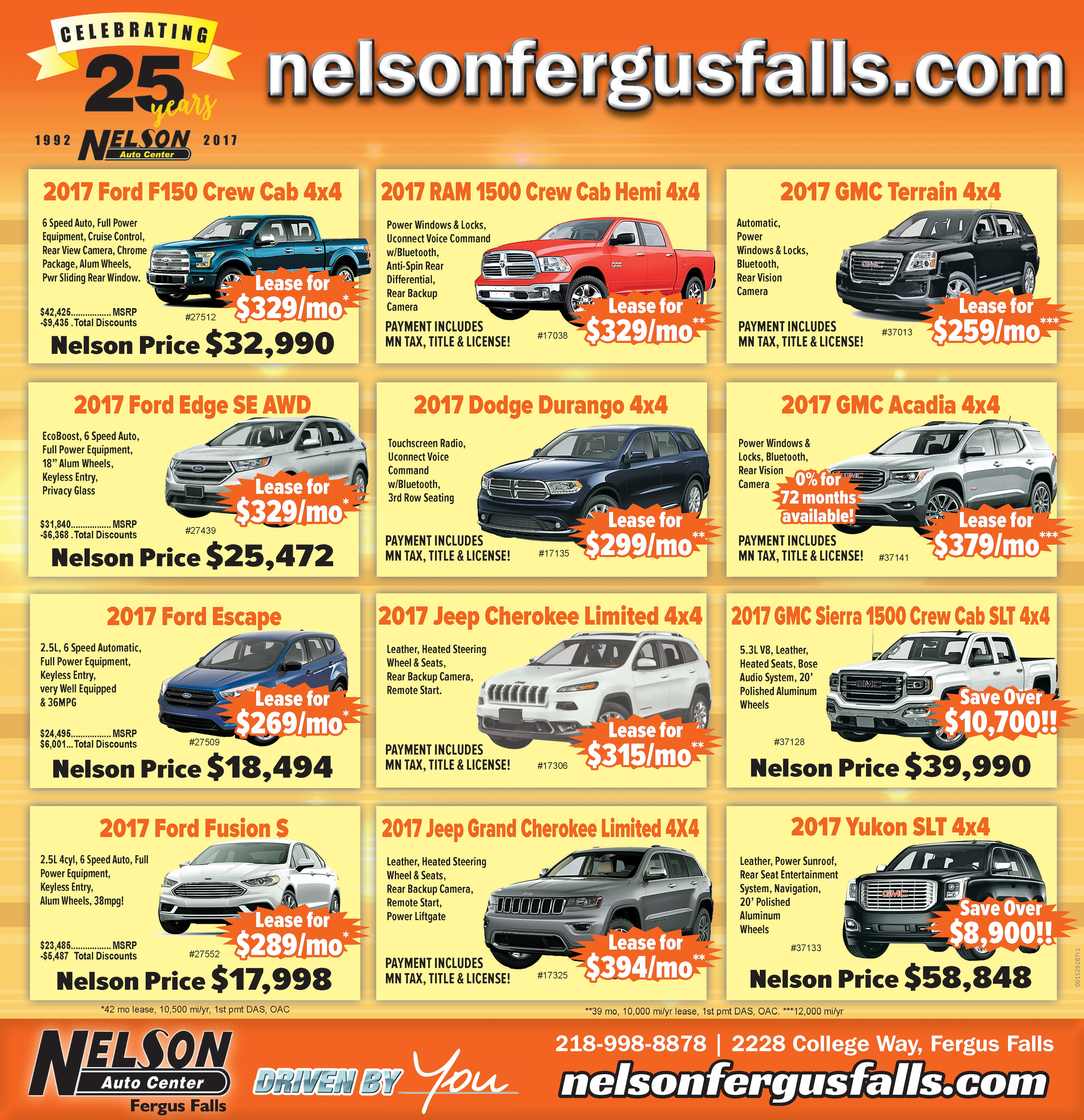 Nelson Auto Center | New Chrysler, Dodge, Jeep, Ford, Lincoln, GMC