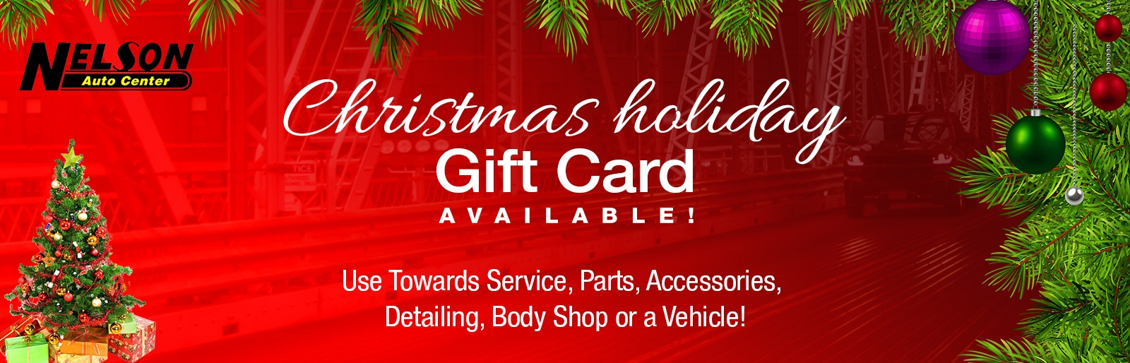 Christmas holiday gift cards available