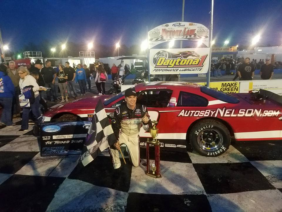 Timothy Peters captured his first win of the season by out-dueling several strong competitors to claim the victory Saturday at Myrtle Beach Speedway in ...