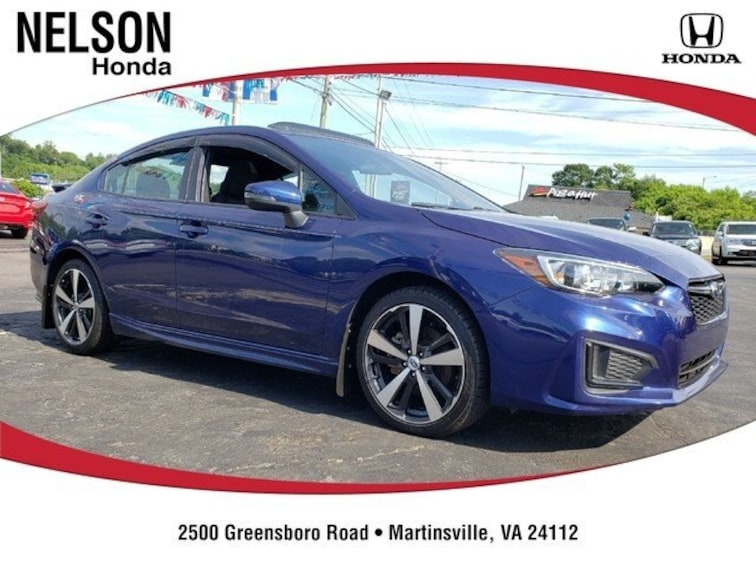 Used 2018 Subaru Impreza 2.0i Sport with Sedan H13864 near Martinsville