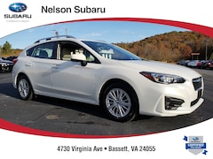 Certified pre-owned 2018 Subaru Impreza 2.0i Premium 5-door 4S3GTAD64J3705278 for sale in Bassett, VA,