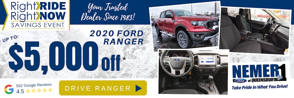 Ford Ranger February Presidents Day Offer