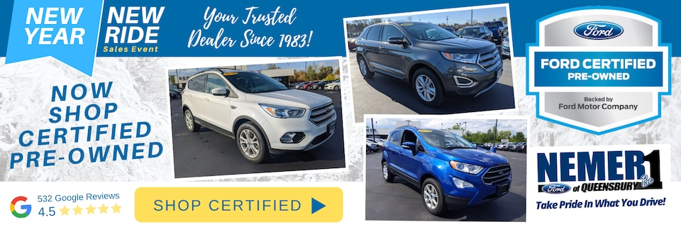 Certified Pre-owned Vehicles Now at Nemer Ford