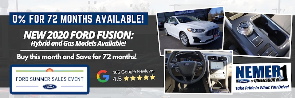 0% for 72 months on Ford Fusion and Fusion Hybrid