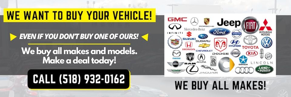 We're Buying Vehicles, Any Make or Model
