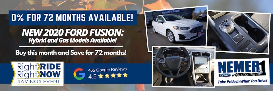 September Offer on New 2020 Ford Fusion and Fusion Hybrid