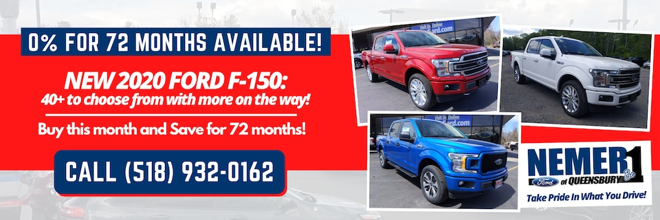 2020 Ford F-150 0% for 72 Months