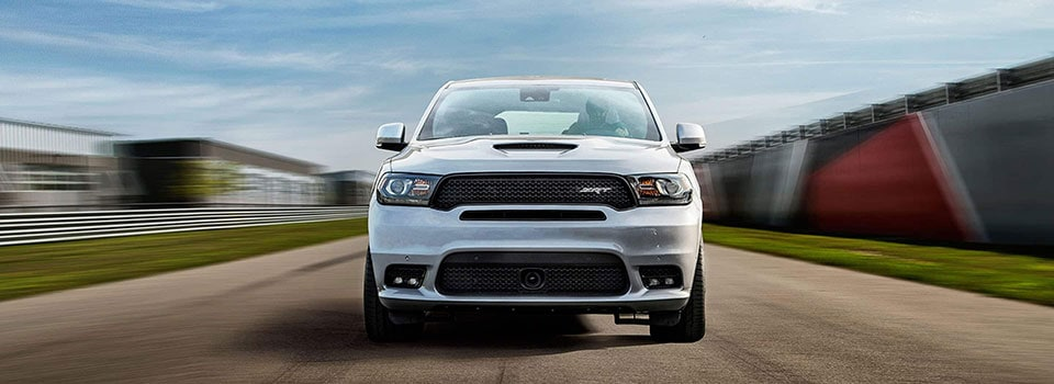 2019 Dodge Durango driving on track