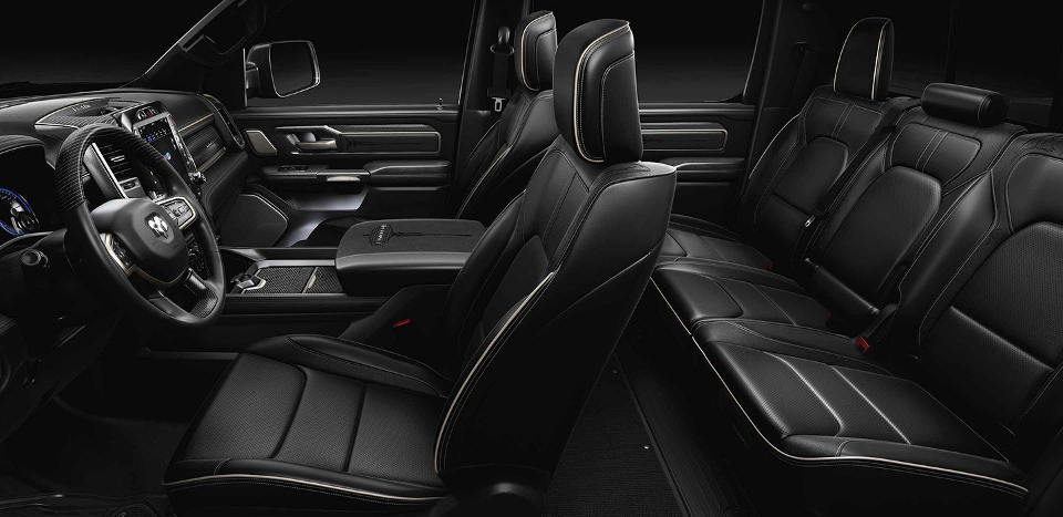 Side shot of the interior of a 2019 Ram 1500