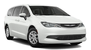 A white Chrysler Pacifica LX on a transparent background
