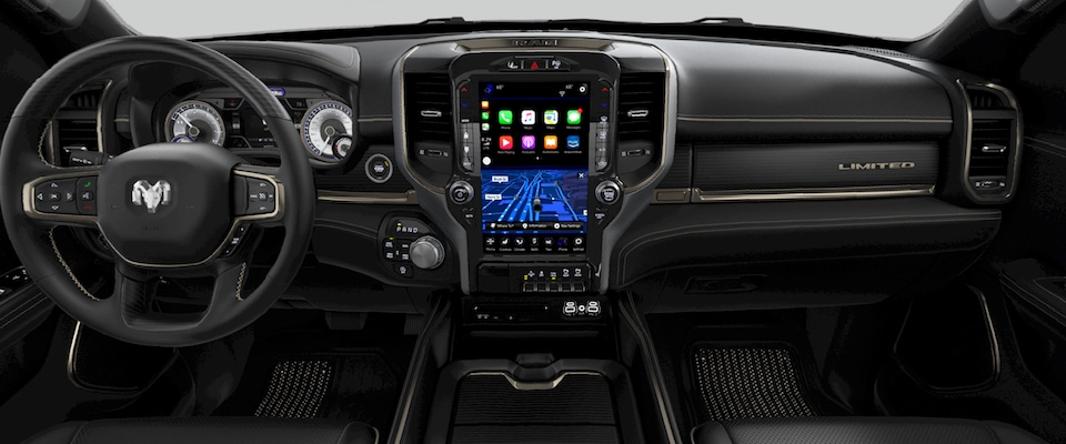 The dashboard on the Ram 1500