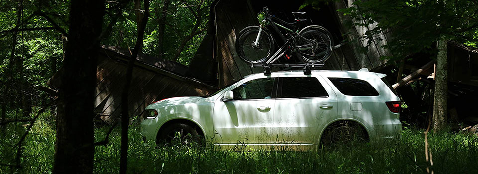 2019 Dodge Durango in a forest