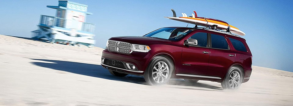 2019 Dodge Durango driving on beach