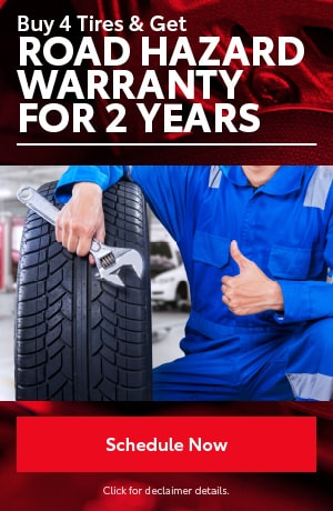 Buy 4 Tires & Get: Road Hazard for 2 years
