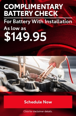 Complimentary Battery Check & Special With Installation