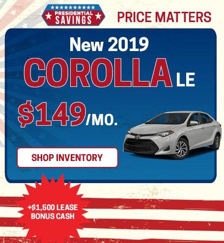 2019 Presidents Day Corolla