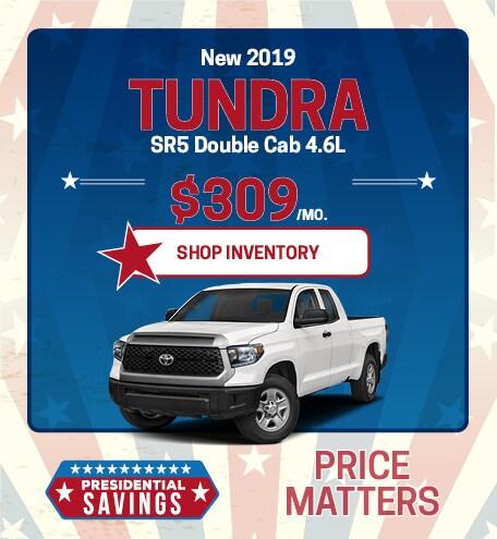 New 2019 Tundra SR5 Double Cab 4.6L