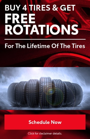 Buy 4 Tires & Get FREE Rotations