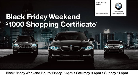 Bmw Black Friday Sales Event Wide World Bmw
