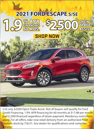 1.9% APR for 60 Months + $2,500 Open Trade Assist!