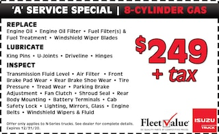 8-Cylinder Gas | 'A' Service Special
