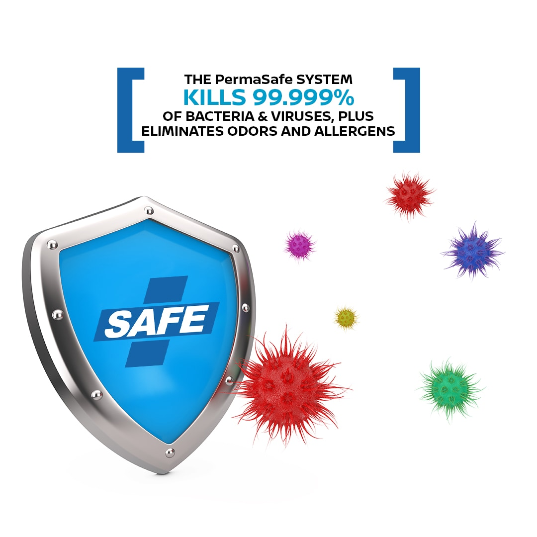 Permasafe Kills 99.999% of bacteria and viruses