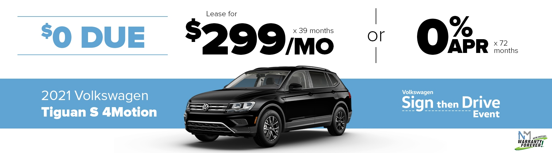 New Motors VW Monthly Offer Tiguan