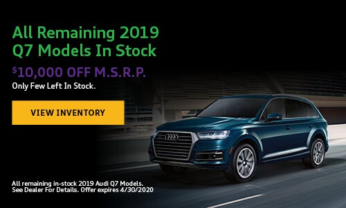 All Remaining 2019 Q7 Models In Stock