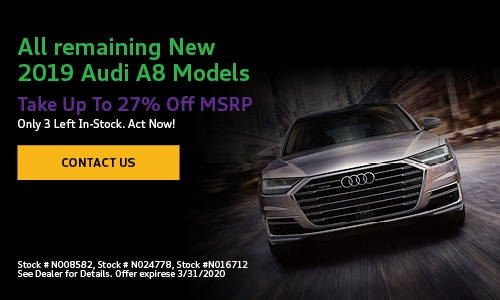 All remaining New 2019 Audi A8 Models