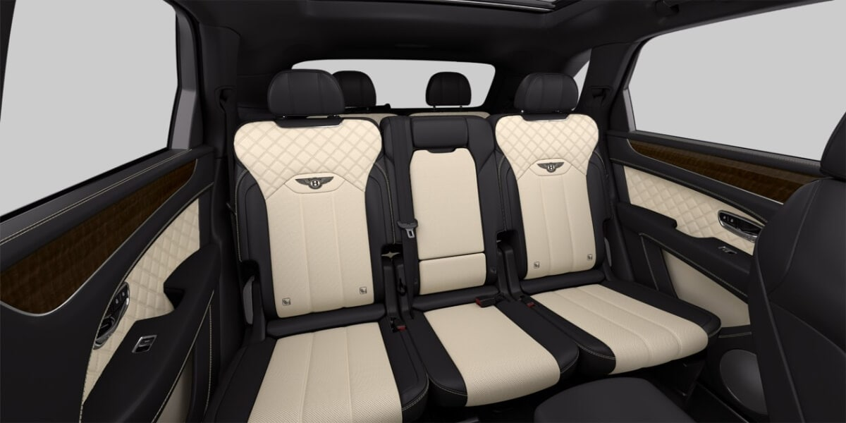 Third-row seating in 2021 Bentley Bentayga