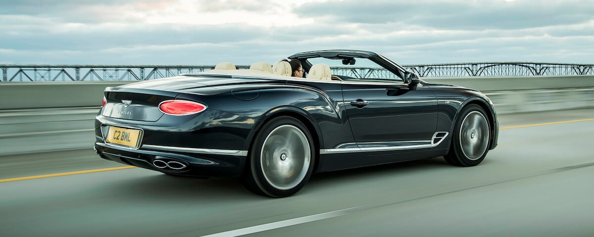 2020 Bentley Continental GT V8 Convertible - Rear 3/4 View
