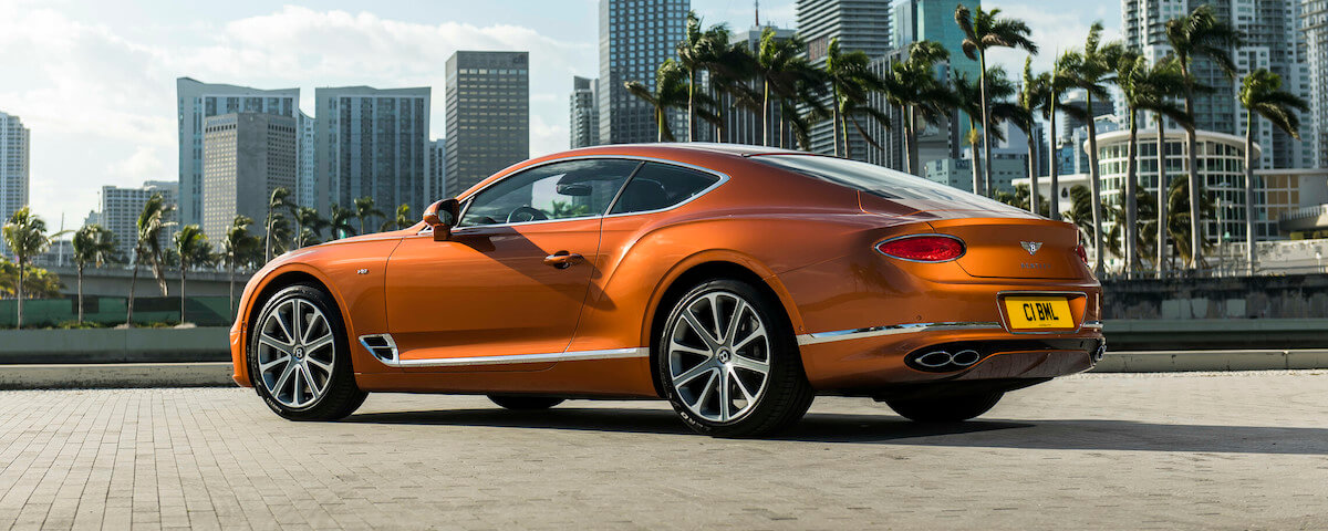 2020 Bentley Continental GT V8 - Rear 3/4 View