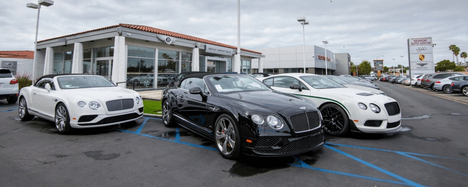 Exterior view of Bentley Newport Beach during the day