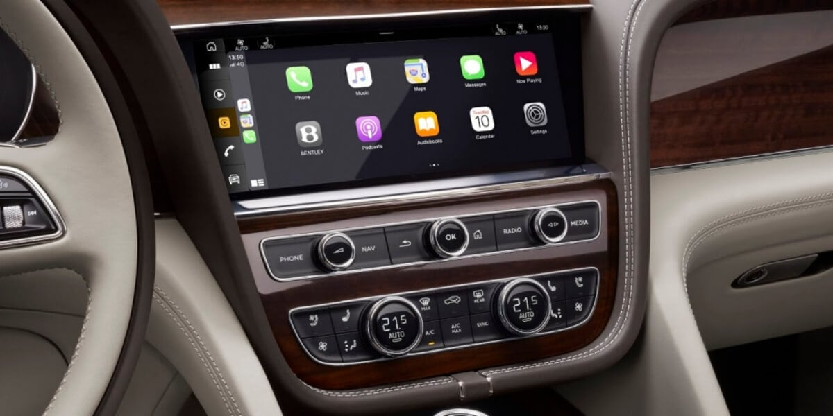 Apple CarPlay in the 2021 Bentley Bentayga infotainment system