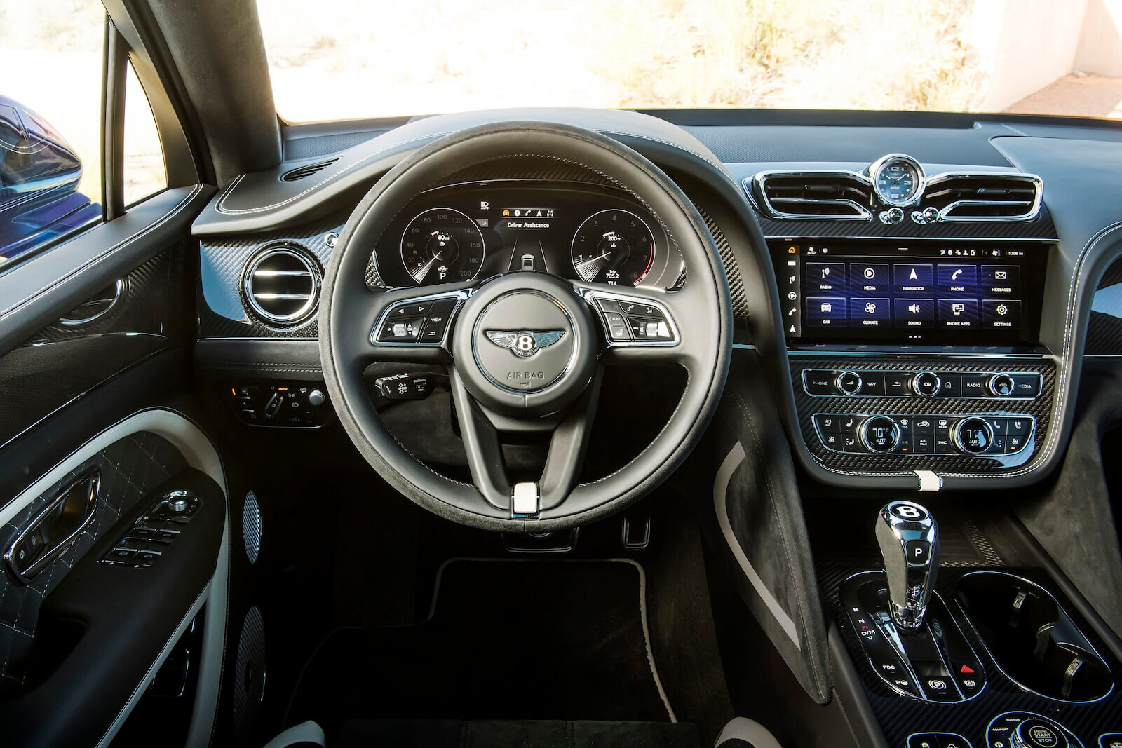 2021 Bentley Bentayga Speed steering wheel and dashboard