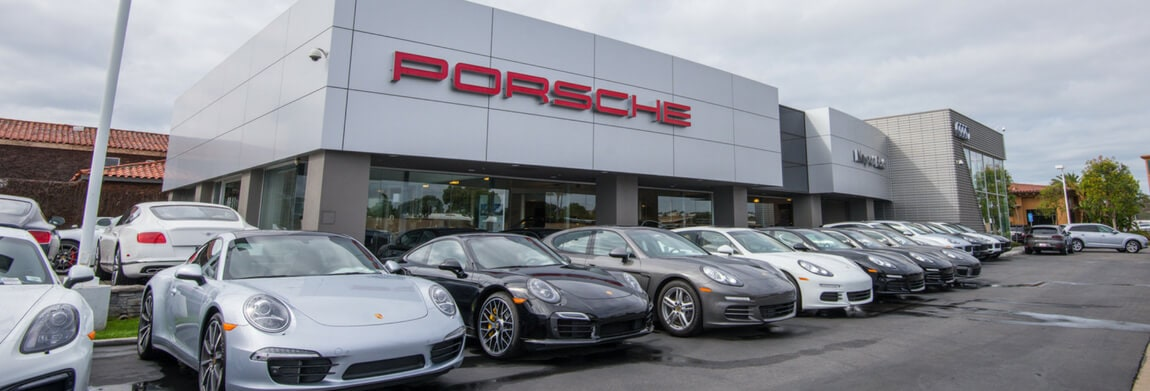 Exterior view of Porsche Newport Beach during the day