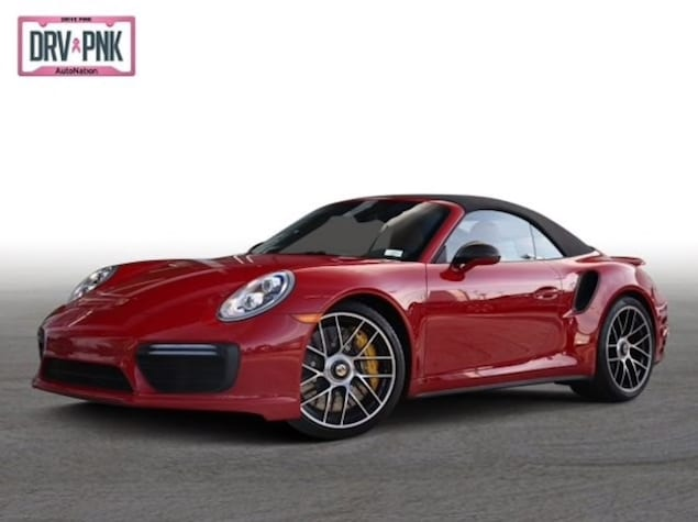 2019 Porsche 911 Turbo S Cabriolet in Carmine Red