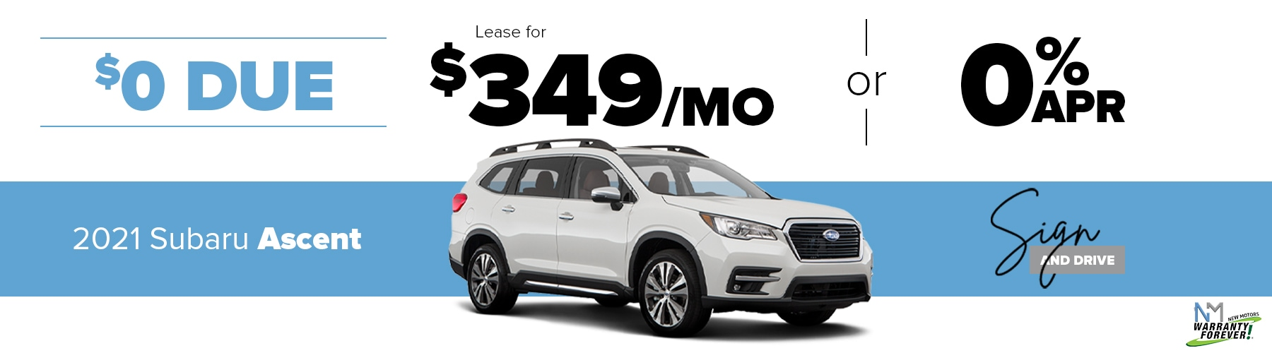 New Motors Subaru Monthly Offer Ascent
