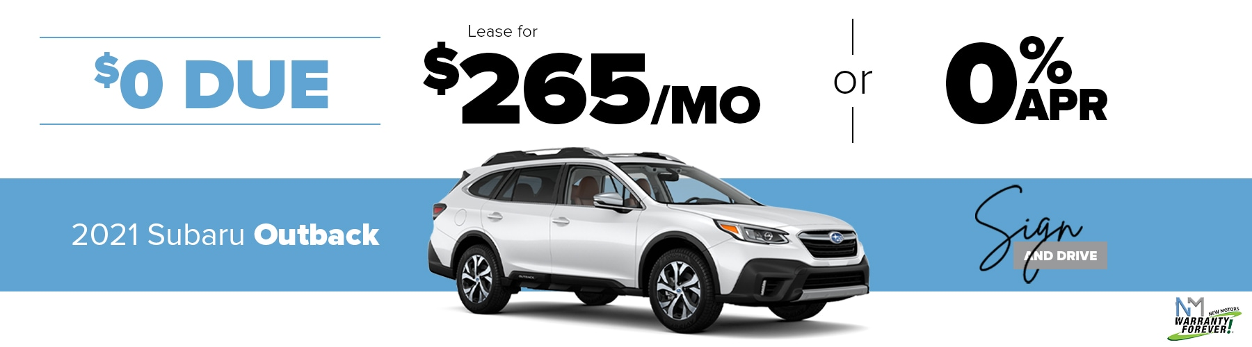 New Motors Subaru Monthly Offer Outback