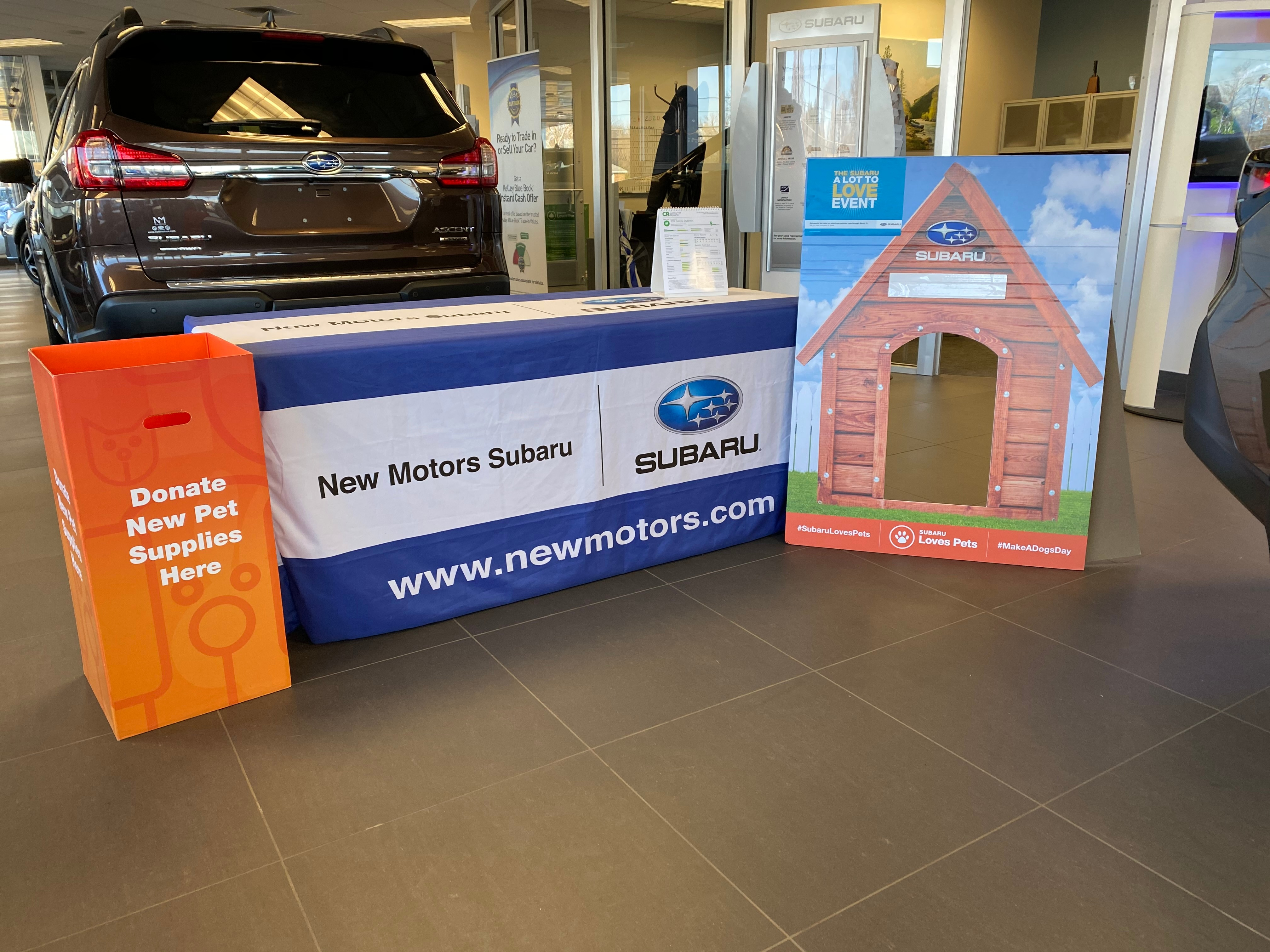 New Motors Subaru Donation Box