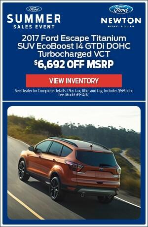 New 2017 Ford Escape Titanium SUV - $6,692 Off
