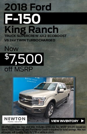 New 2018 Ford F-150 King Ranch | $7,500 off MSRP