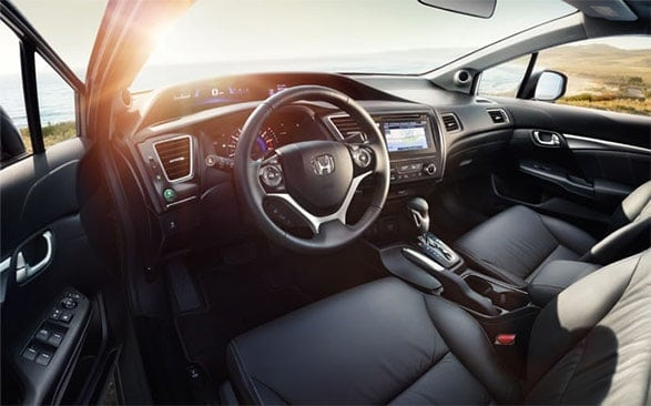 2015 honda civic interior