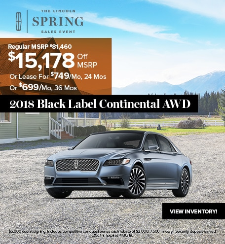 2018 Lincoln Continental Black Label April